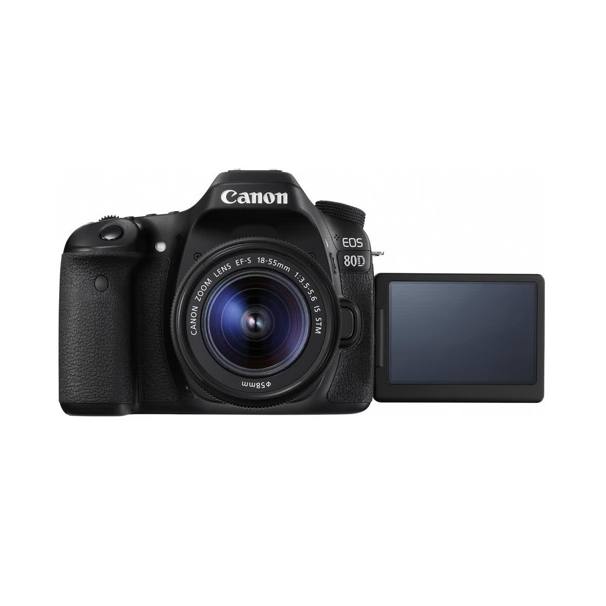 Canon EOS 80D Camera with EF-S 18-55mm f/3 5-5 6 IS STM Lens