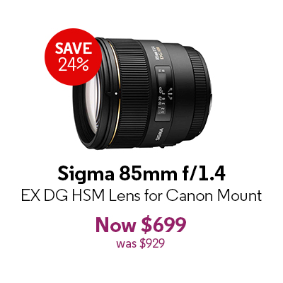 Sigma 85mm f/1.4 EX DG HSM Lens for Canon Mount