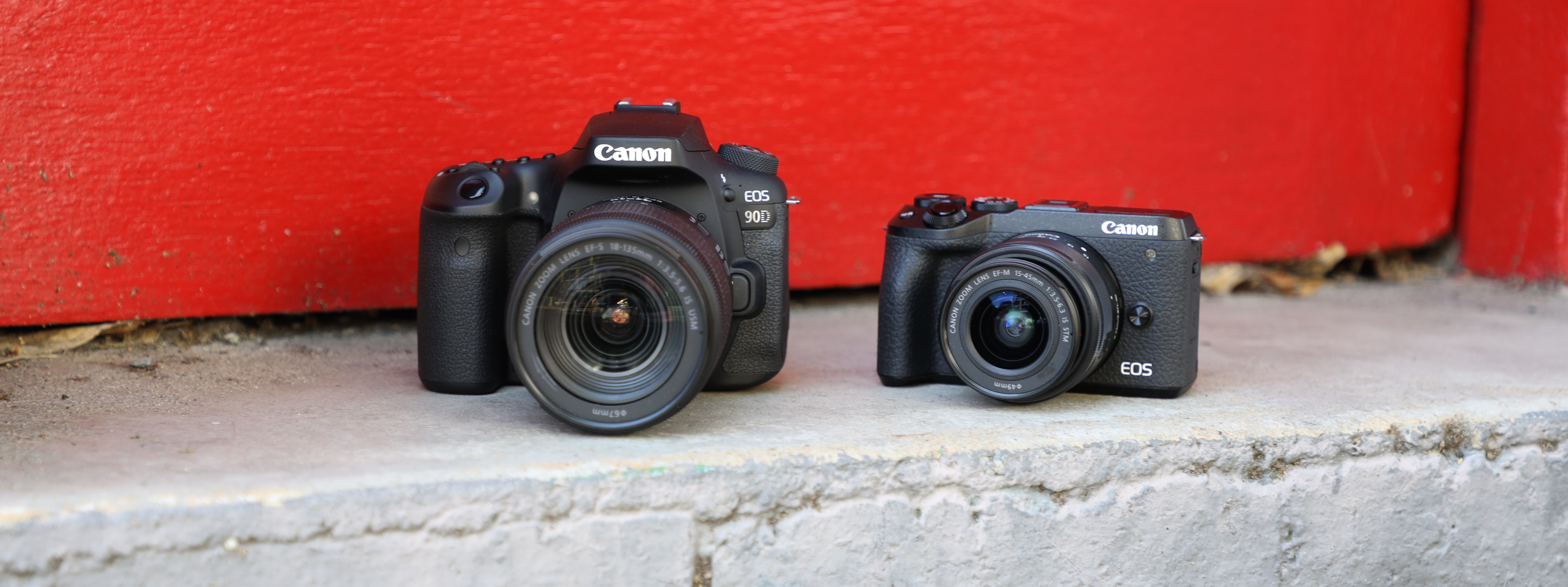 Canon 90D DLSR side-by-side with Canon M6 Mark II
