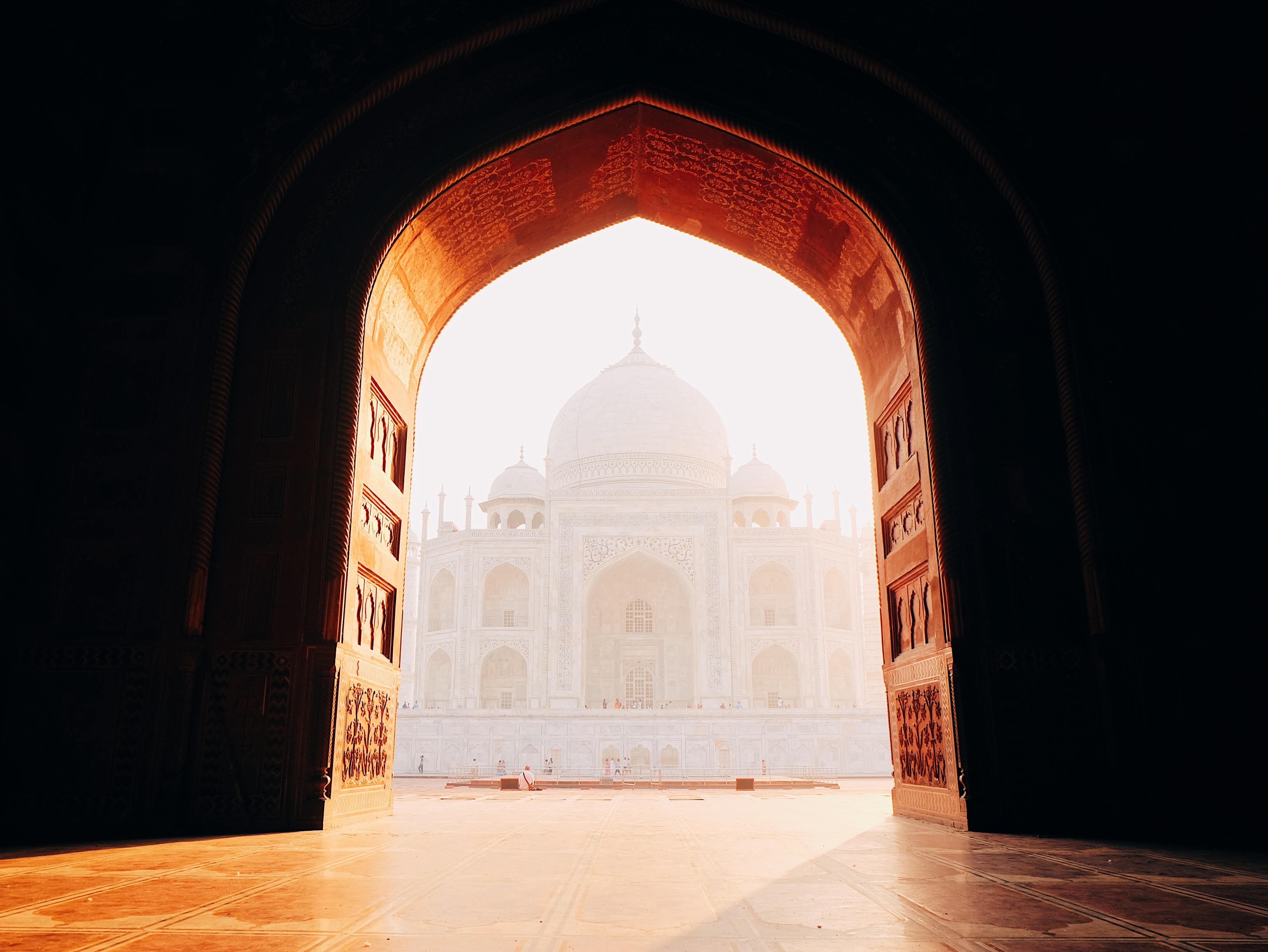 Taj Mahal through doorway