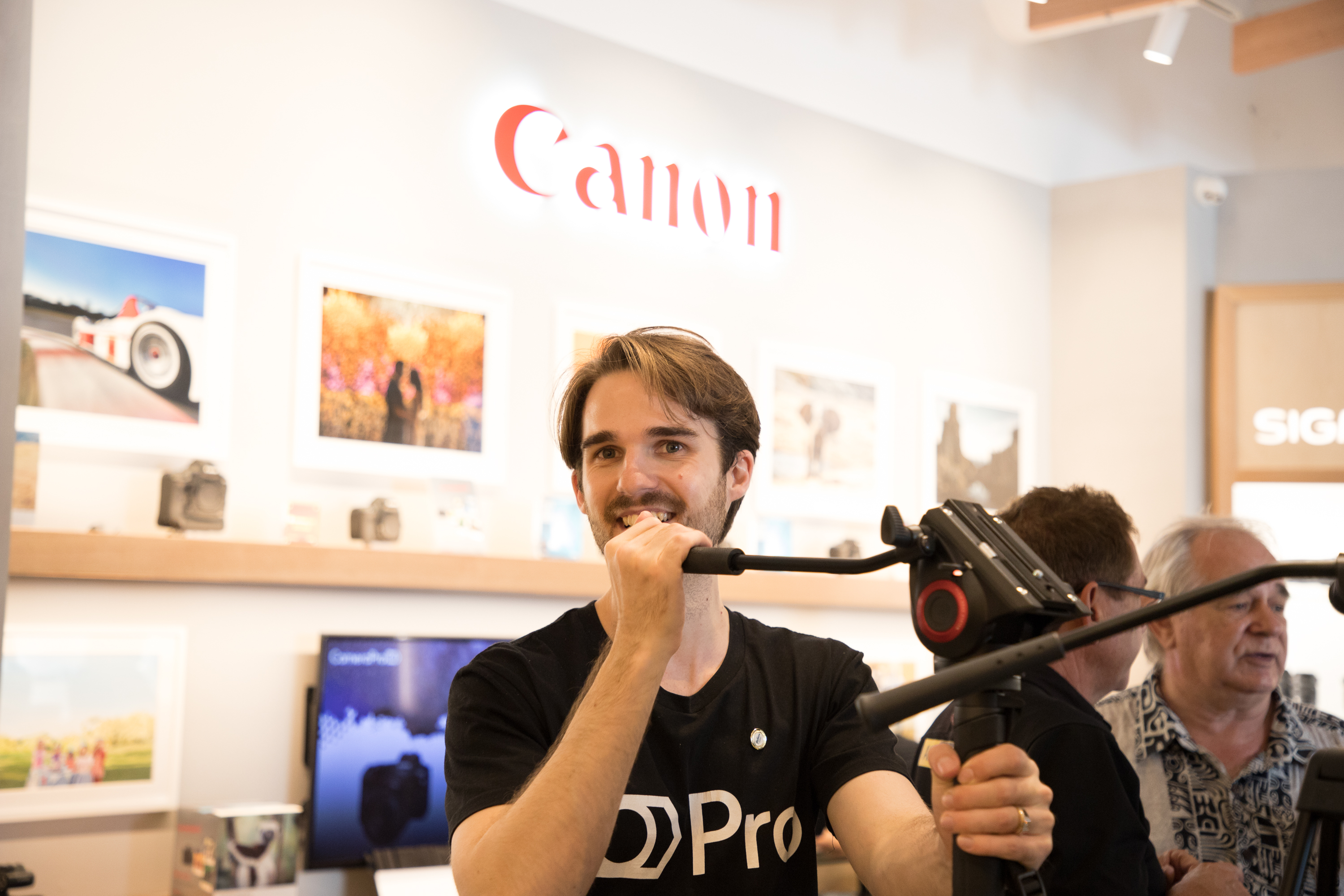 Bryce in CameraPro showroom
