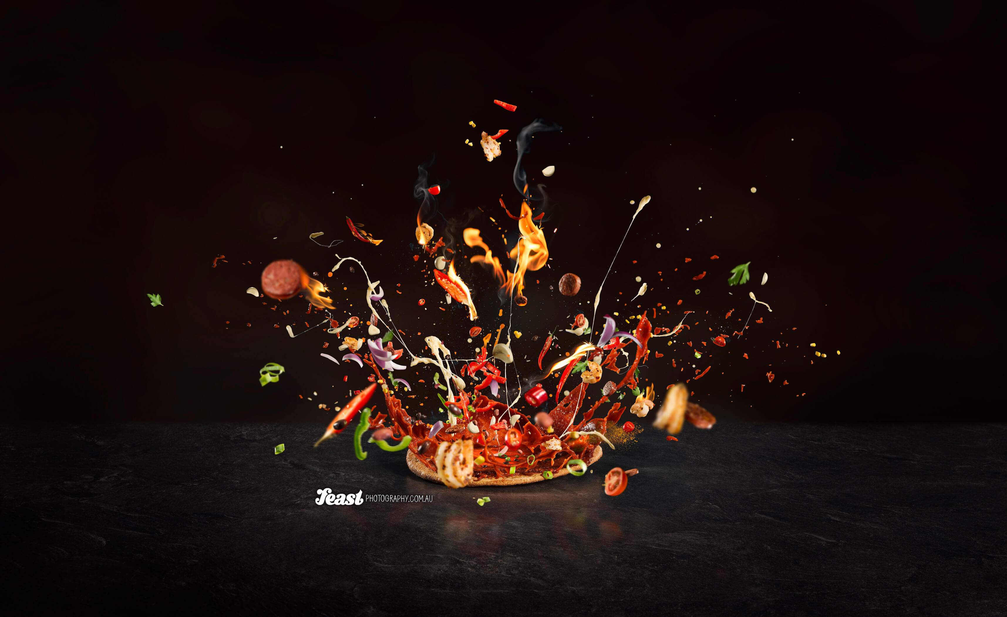 Inferno pizza by Feast Photography