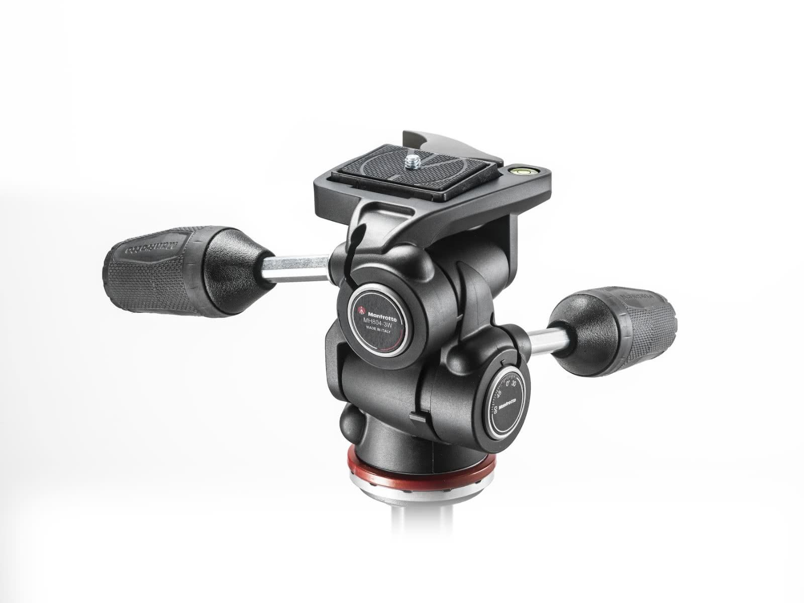 Manfrotto Adapto RC2 3 way tripod head with retractable-levers