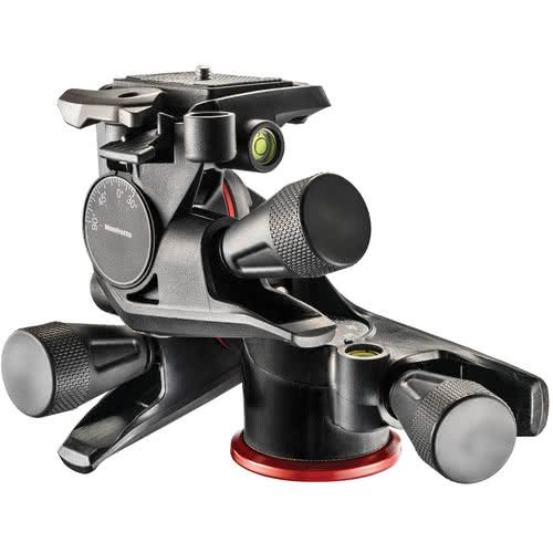 Manfrotto Xpro 3 way geared tripod head with micrometic knobs