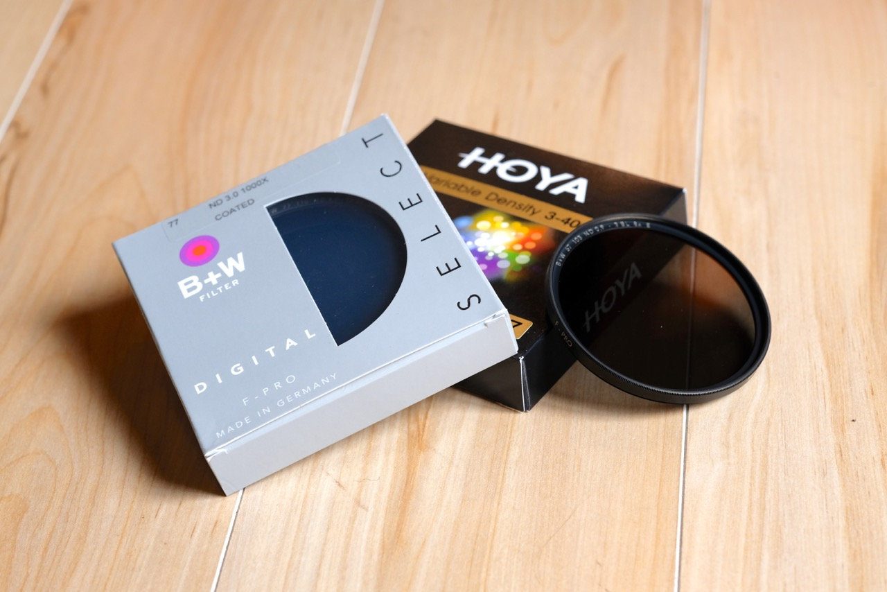 B+W and Hoya ND filters