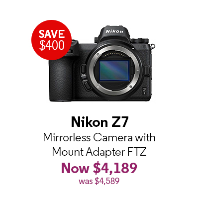 Nikon Z7 Mirrorless Camera with Mount Adapter FTZ