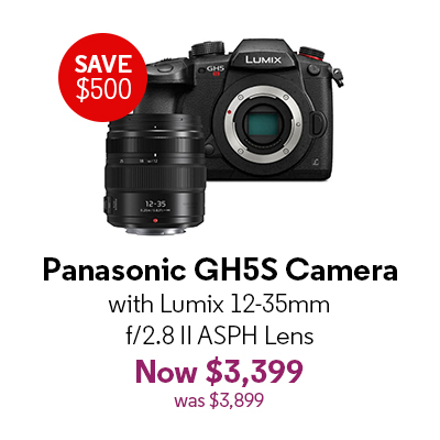 Panasonic GH5S Camera with Lumix 12-35mm f/2.8 II ASPH Lens