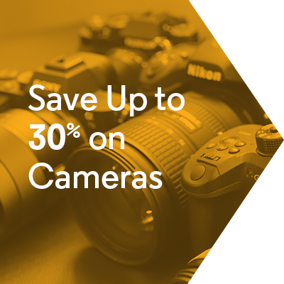 Save Up to 30% on Cameras
