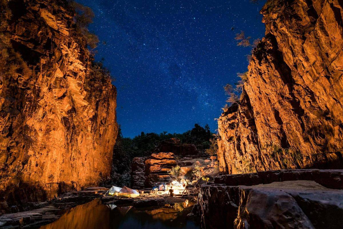 Camped under the stars at Butterfly Gorge in the Top End, Northern Territory