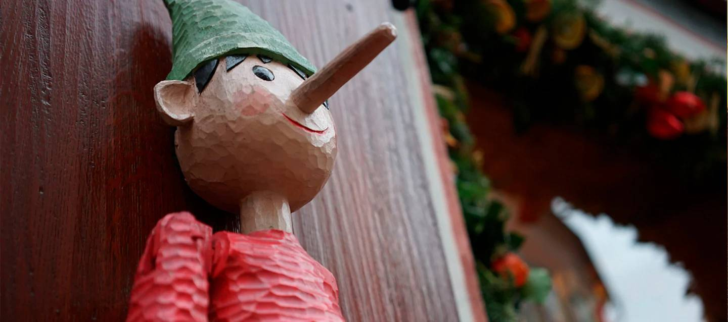 Wooden Pinocchio statue propped against a wooden panel, photographed with the Sony 35mm 2.8 ZEISS lens