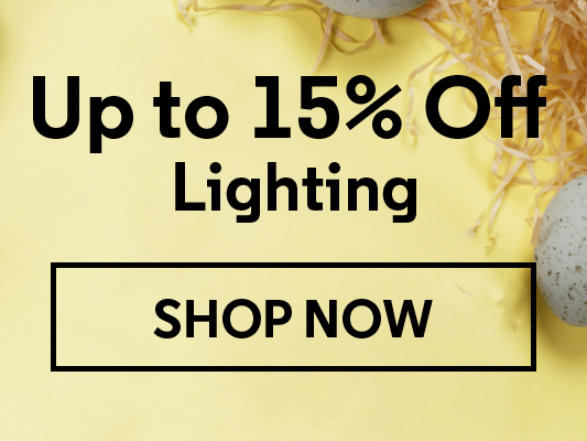 Up to 15% Off Lighting