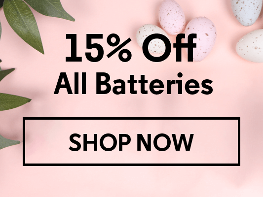15% Off All Batteries