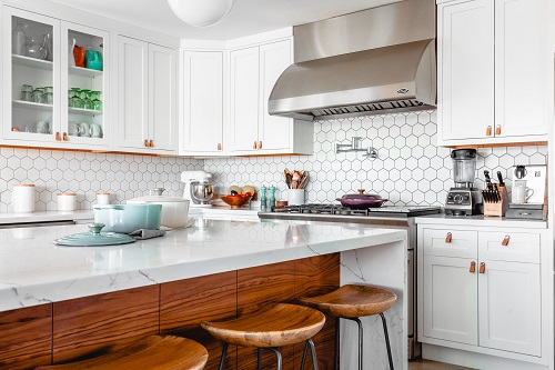 interior and real estate photography of the kitchen