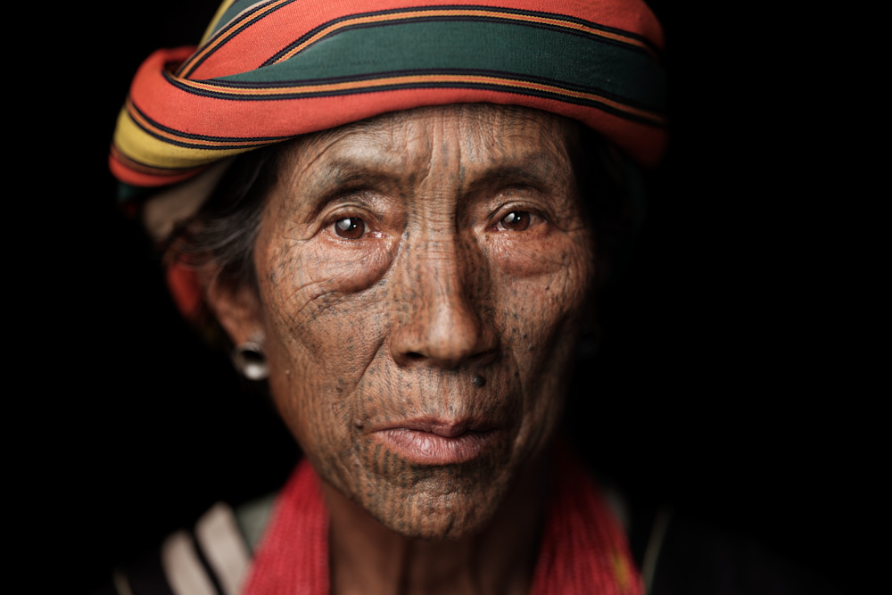portrait of an old tribal woman