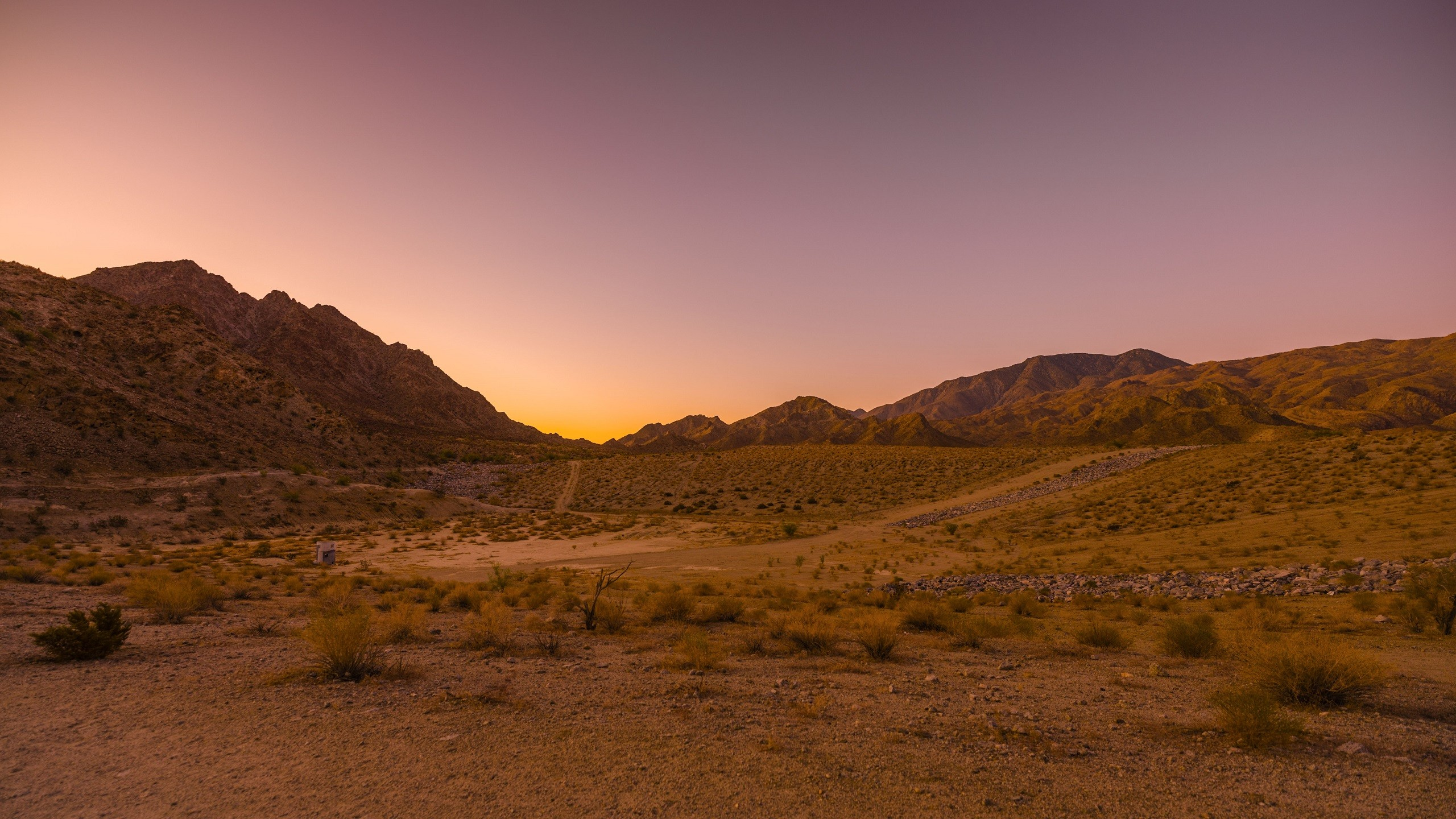 Sunrise over desert hills, photographed with the Sigma fp camera