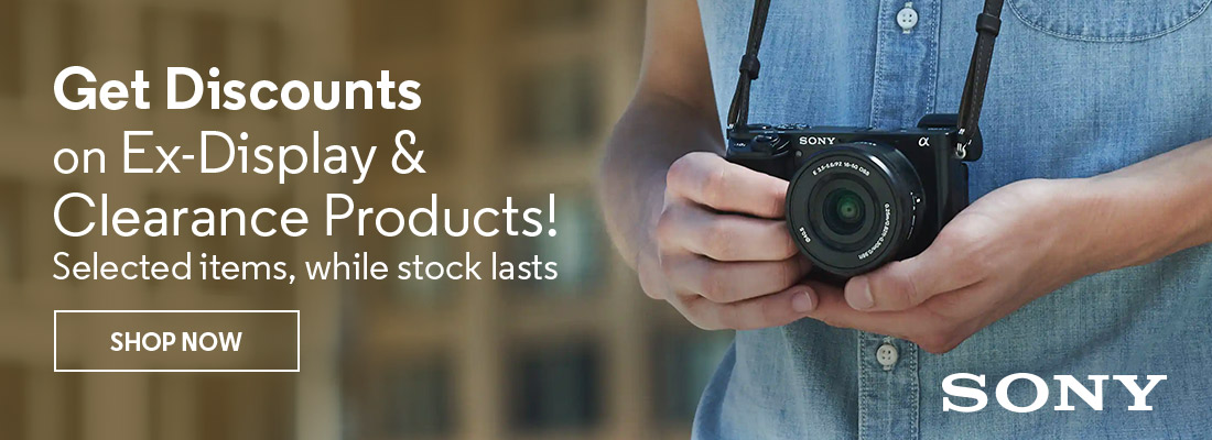 Get Discounts on Ex-Display & Clearance Products! Selected items, while stock lasts