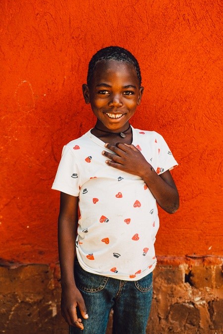 Portrait of a Smiling Kid in a Ugandan Orphanage