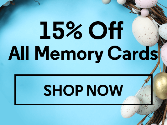 15% Off All Memory Cards