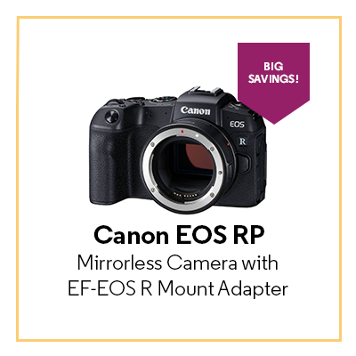 Canon EOS RP Mirrorless Camera with EF-EOS R Mount Adapter