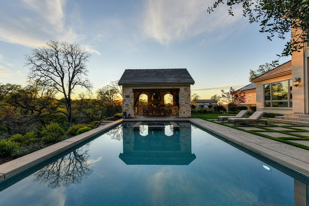 interior and real estate photography of the swimming pool
