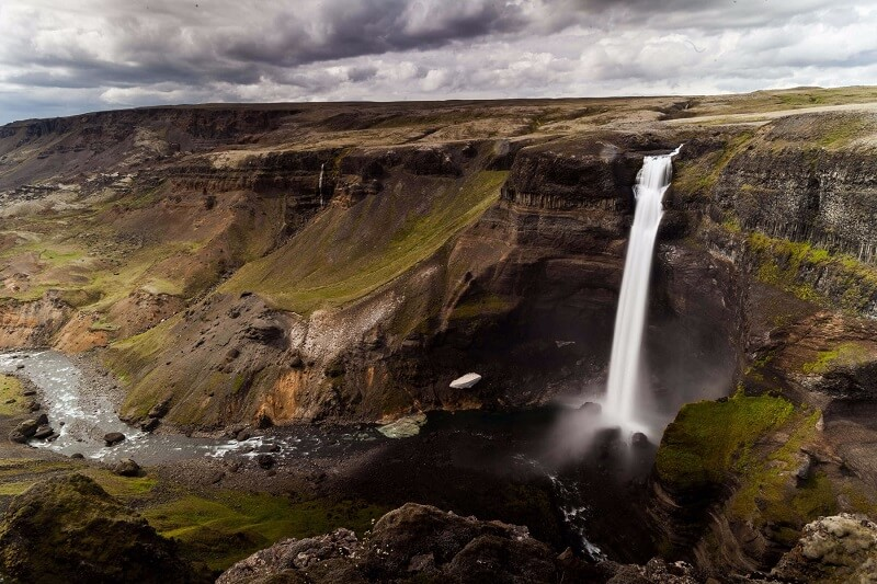 Slow Shutter speed example - waterfalls in Iceland Greenland
